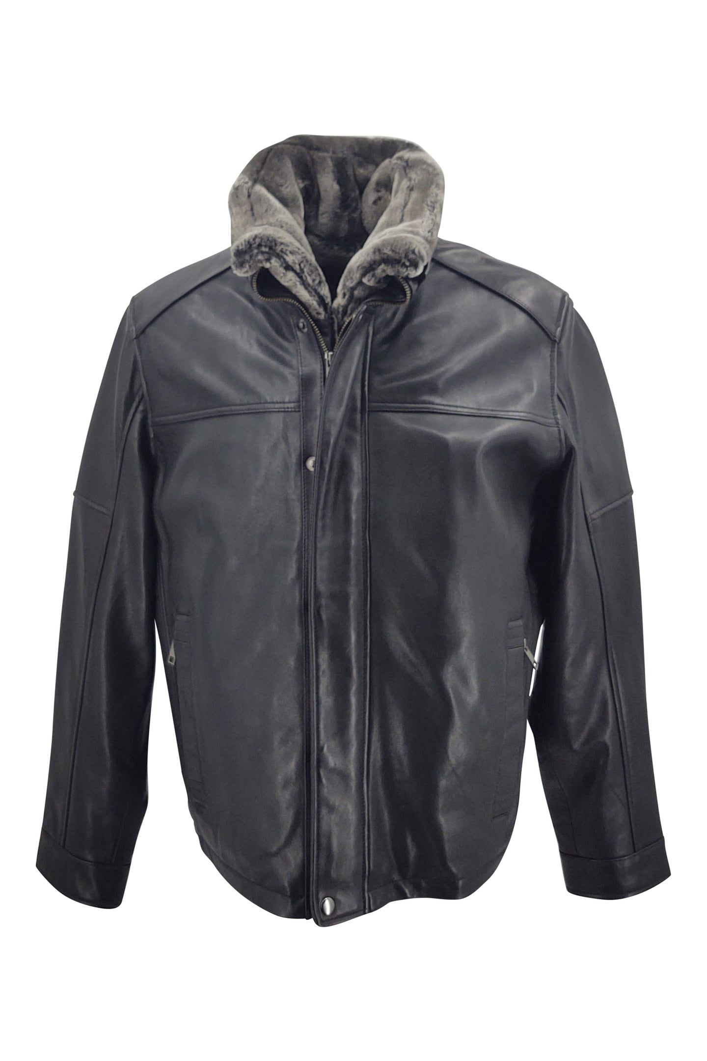 Marco - Lamb Leather - Man - Black | STAMPE PELS