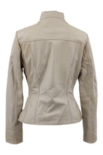 Load image into Gallery viewer, P 14-01 - Lamb Dior Leather - Women - Beige / Læder Skinds Jakke - Levinsky - Kvinde | STAMPE PELS