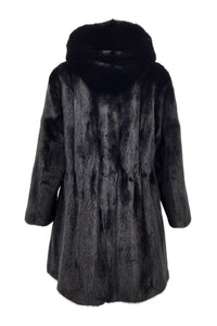 Artic, 85 cm. - Mink - Women - Black | STAMPE PELS