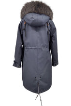 Load image into Gallery viewer, K1685, 95 cm. - Hood - Textile - Women - Dark Grey / Dunjakke | STAMPE PELS