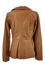 Load image into Gallery viewer, Women's Jacket - Collar - Lamb Copper Leather - Women - Tan / Læder Skinds Jakke - Levinsky - Kvinde | STAMPE PELS