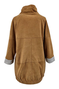 Doreen - Goat Suede Leather - Women - Camel | STAMPE PELS