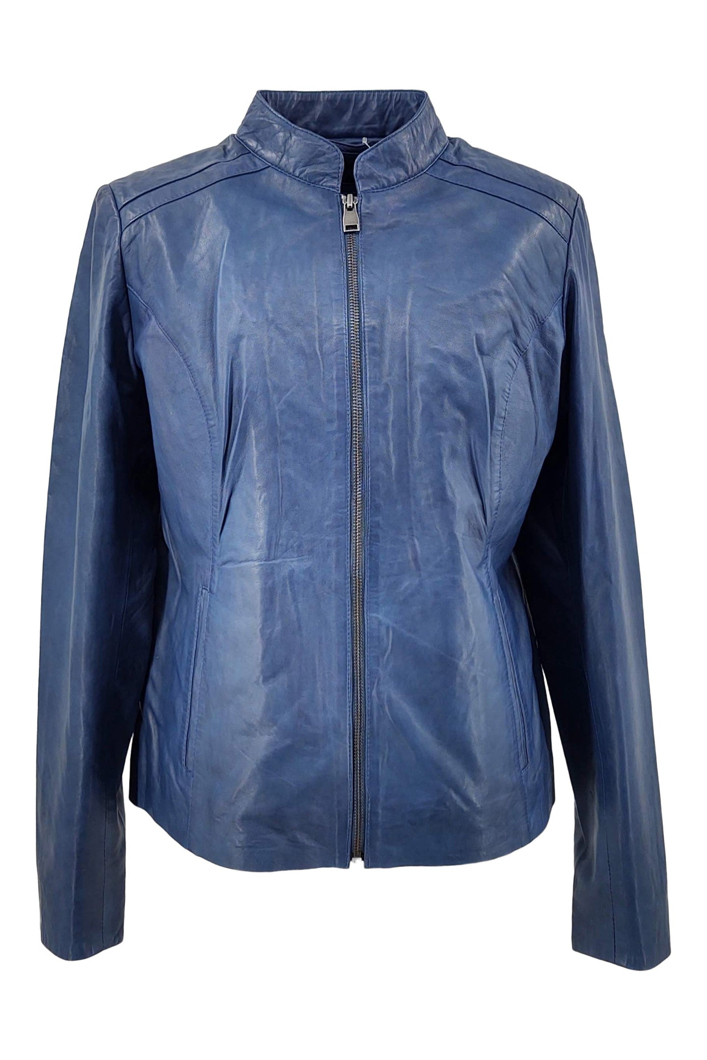 Silja - Lamb Malli Leather - Women - Sapphire Blue | STAMPE PELS