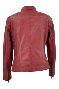 Mila - Lamb Malli Leather - Women - Hollywood Red | STAMPE PELS