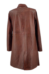 Beth - Lamb Malli Leather - Women - Dark Cognac | STAMPE PELS