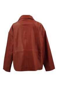 Oslo - Lamb Malli Leather - Women - Burnt Orange / Læder Skinds Jakke - Levinsky - Kvinde | STAMPE PELS