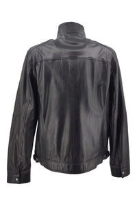 Athir - Lamb Aldo Leather - Man  - Black / Læderjakke | STAMPE PELS