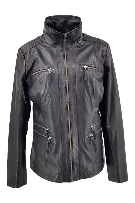 Teija - 2  - Lamb Malli Leather - Women - Black | STAMPE PELS