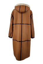 Load image into Gallery viewer, Carmen, 110 cm. - Hood - Nappa Lamb - Women - Cognac | STAMPE PELS