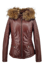 Load image into Gallery viewer, Bette - Hood - Lamb Malli Leather - Women - Beautiful Brown | STAMPE PELS