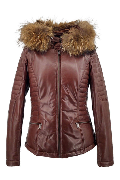 Bette - Hood - Lamb Malli Leather - Women - Beautiful Brown | STAMPE PELS