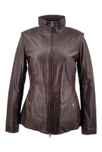 Load image into Gallery viewer, Gaida - Collar - Lamb Malli Leather - Women - Brown / Læder Skinds Jakke - Levinsky - Kvinde | STAMPE PELS