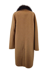 Capetown, 103 cm. - Collar - Double Face Wool - Man - Camel | STAMPE PELS