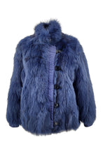 Load image into Gallery viewer, Clemont, 60 cm. - Collar - Fox - Women - Blue / Ræve Pels - Levinsky - Kvinde | STAMPE PELS