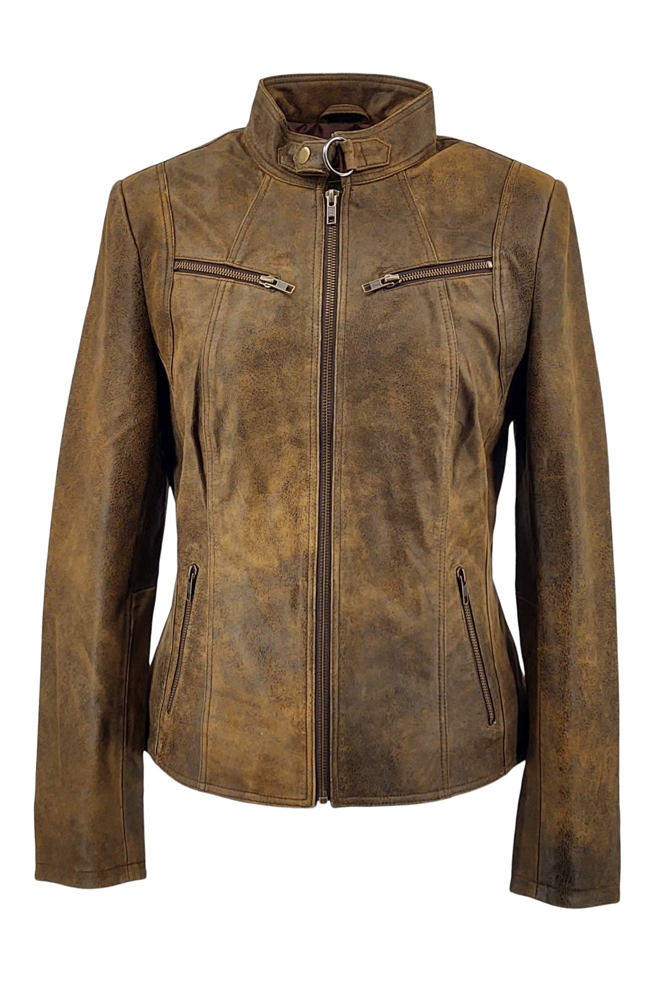 Merry - Lamb Tornado Leather - Women - Middle Brown | STAMPE PELS
