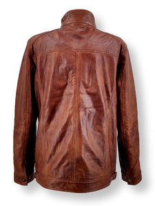 Big Marlow  - Lamb Polish Nappa Leather -Man - Dark Tan