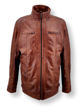 Load image into Gallery viewer, Big Marlow  - Lamb Polish Nappa Leather -Man - Dark Tan