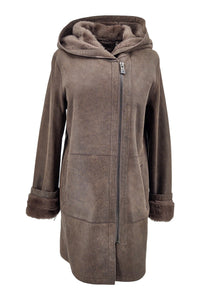 Rinaldi, 85 cm. - Nappa Lamb Crack Washed -Women - Brown | STAMPE PELS