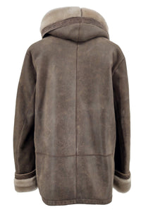 Tara, 70 cm. - Nappa Lamb Crack Washed -Women - Brown | STAMPE PELS