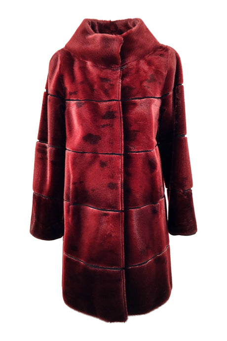 FM 1053, 87 cm. - Silk Seal - Women - Wine Red | STAMPE PELS