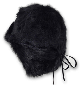 Berta Hat - Rabbit - Women - Black | STAMPE PELS