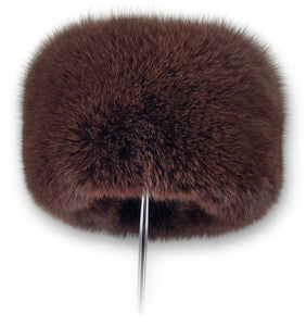759-85/03 Hat - Blue Fox - Accesories - Brown (Hue) | STAMPE PELS