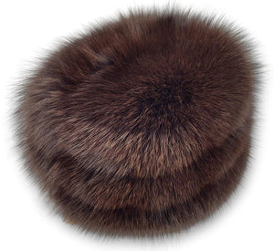 755-85-03 Hat - Blue Fox - Accesories - Brown (Hue) | STAMPE PELS