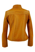 Load image into Gallery viewer, P 14-01 - Lamb Malli Leather - Women - Yellow / Læder Skinds Jakke - Levinsky - Kvinde | STAMPE PELS