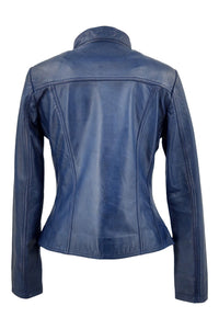 P 14-01 - Lamb Malli Leather - Women - Cobalt Blue | STAMPE PELS