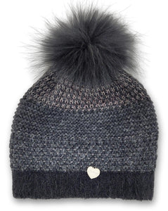 WS.013/P/Bis Hat - Knitted Yarn - Accesories - Grey (Hue) | STAMPE PELS