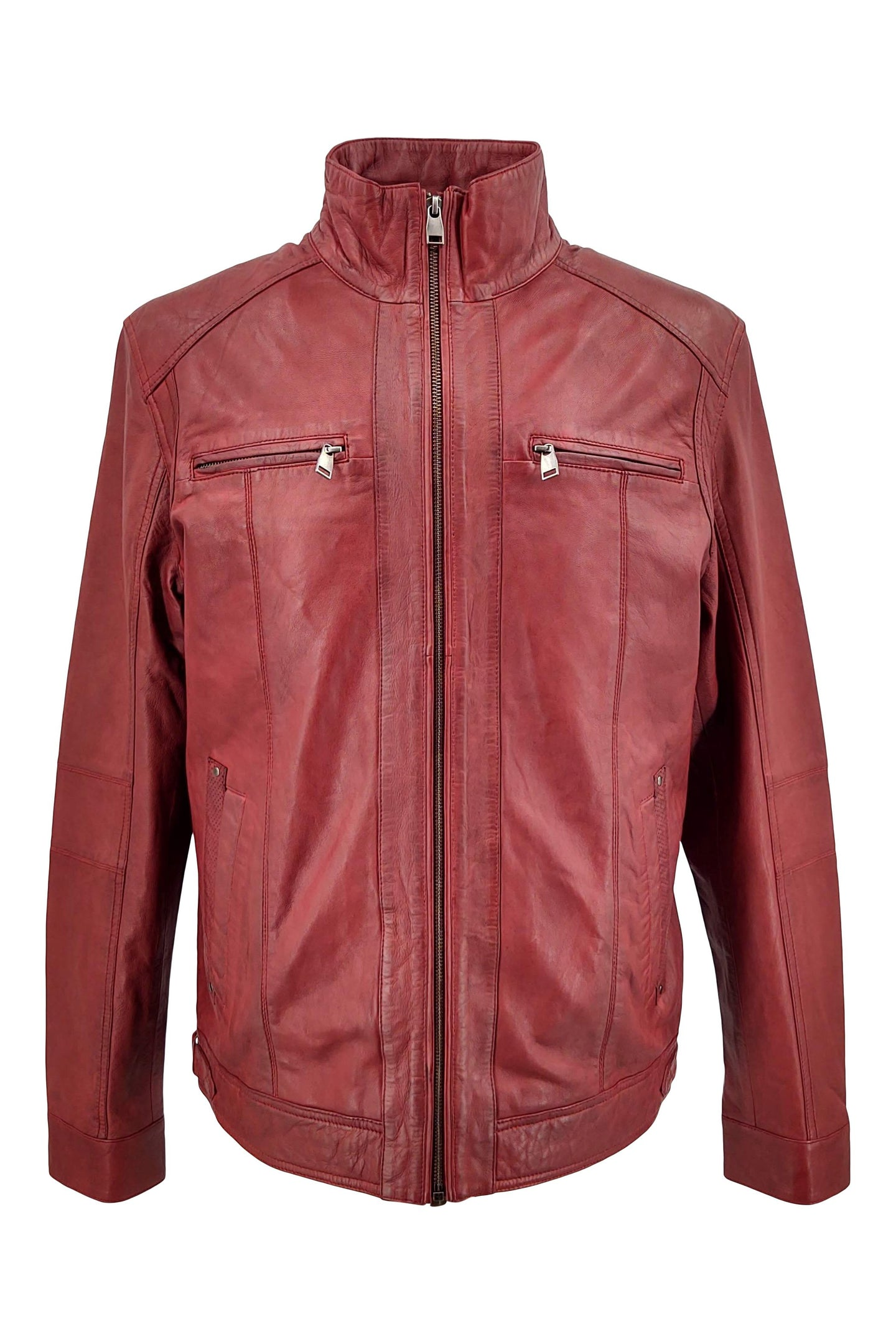 51540 - Lamb Copper Leather - Man - Red | STAMPE PELS
