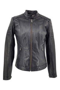 Lise - Lamb Malli Leather - Women - Black | STAMPE PELS