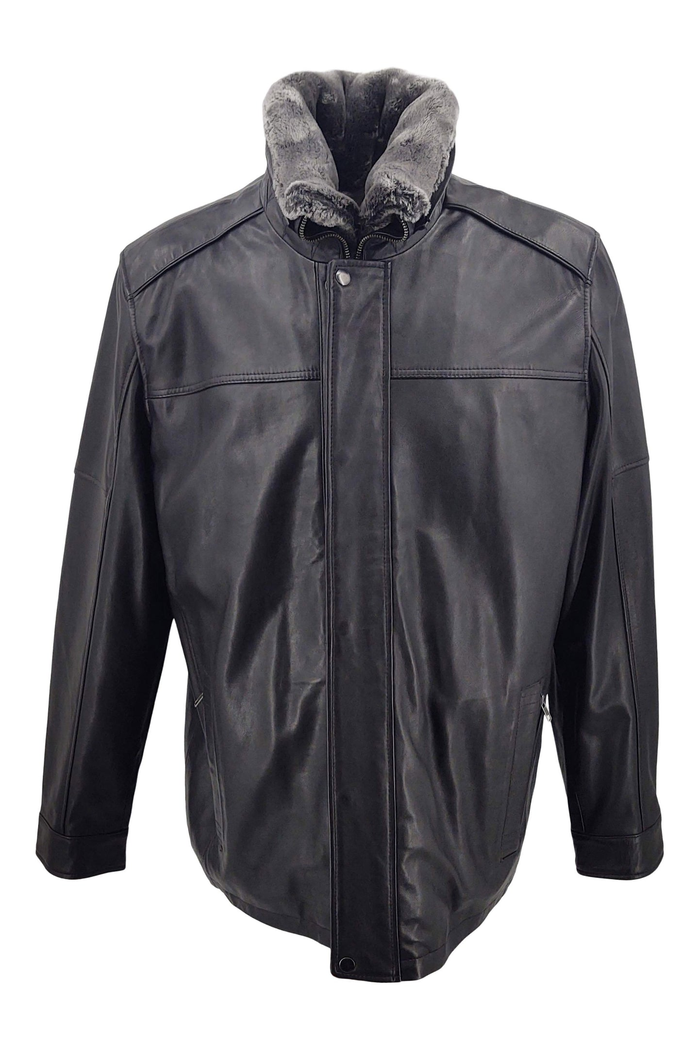 564 - Lamb New Zeeland Leather - Man - Black | STAMPE PELS