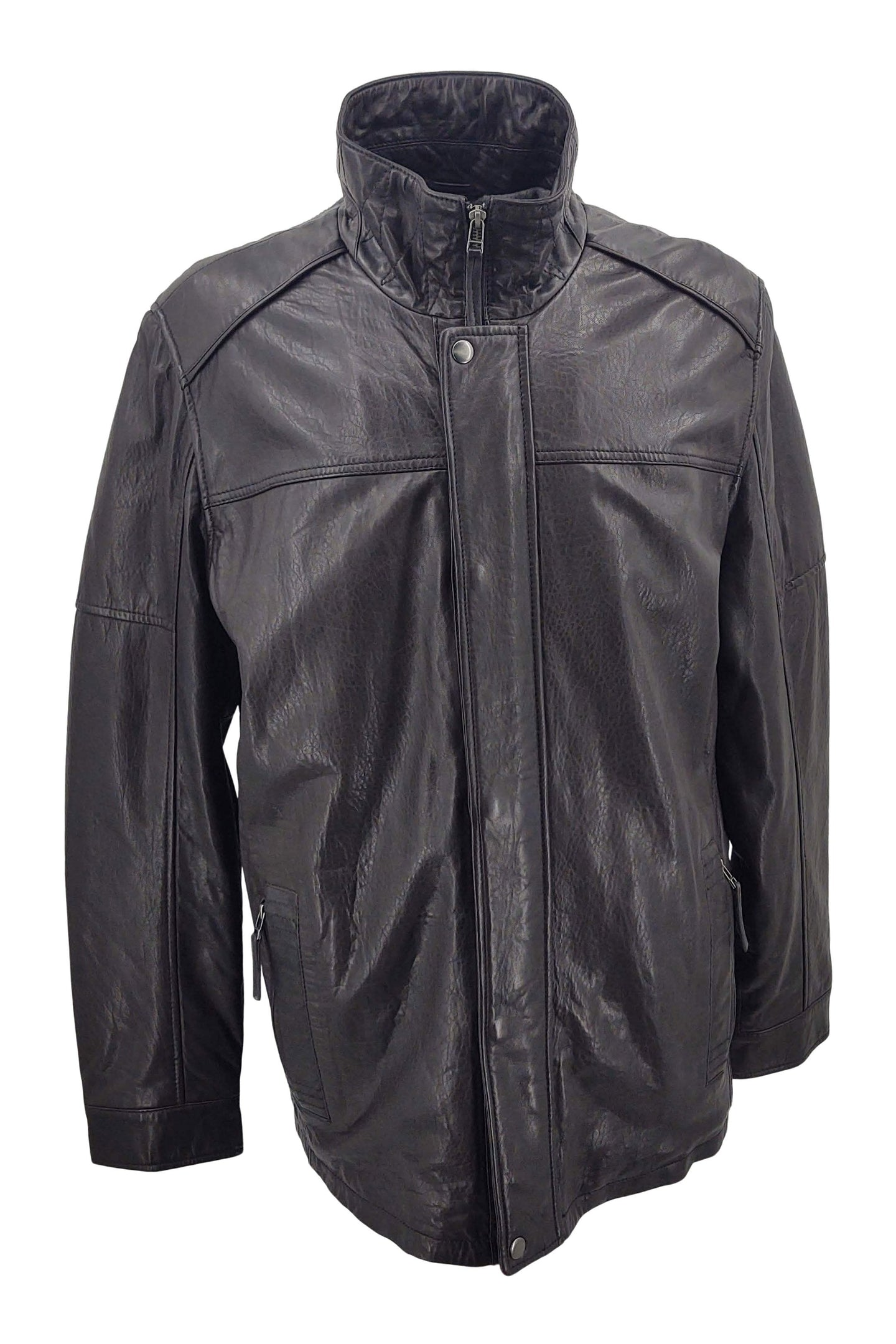 564 - Lamb New Zeeland Leather - Man - Black / Læderjakke | STAMPE PELS