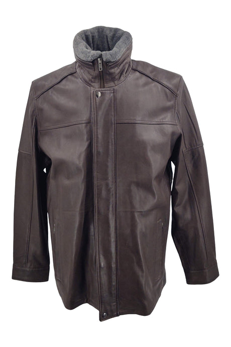 564 - Lamb New Zeeland Leather - Man - Brown / Læderjakke | STAMPE PELS