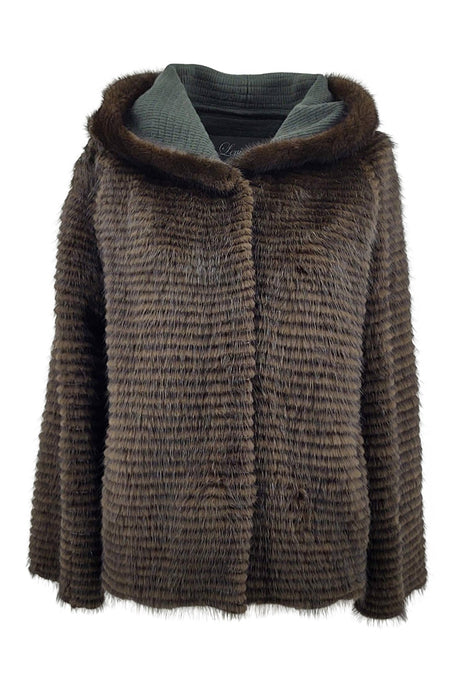 15005B Wool, 60 cm. - Mink & Wool - Women - Dark Green | STAMPE PELS