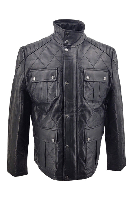 Jurgen - Lamb Boss Leather - Man - Black | STAMPE PELS