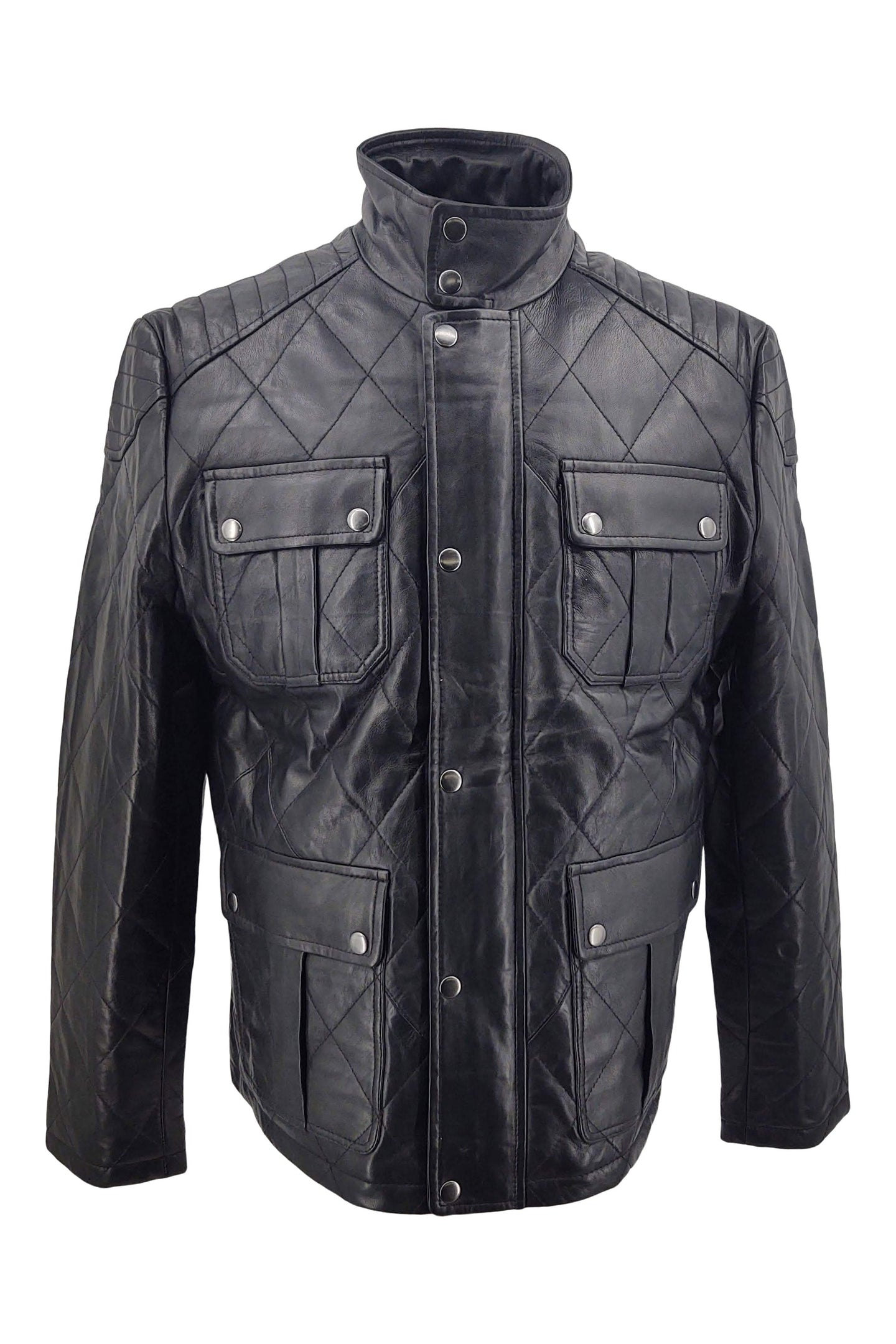 Jurgen - Lamb Boss Leather - Man - Black / Læderjakke | STAMPE PELS