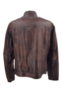 Ferome - Lamb Rushmore Leather - Man - Dark Brown / Læderjakke | STAMPE PELS