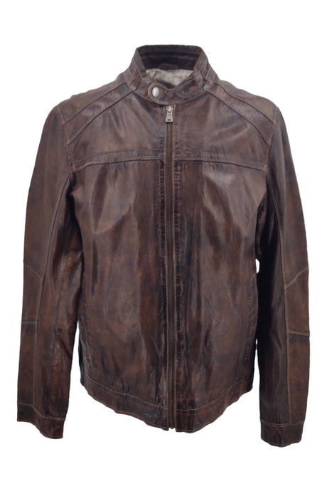 Ferome - Lamb Rushmore Leather - Man - Dark Brown | STAMPE PELS