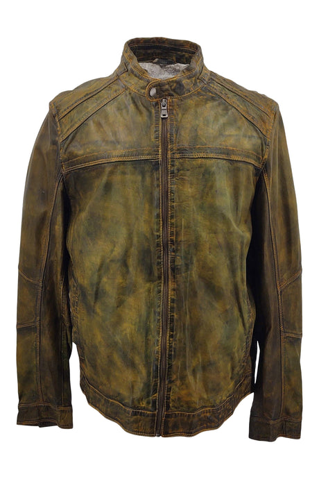 Ferome - Lamb Rushmore Leather - Man - Leaf Green | STAMPE PELS