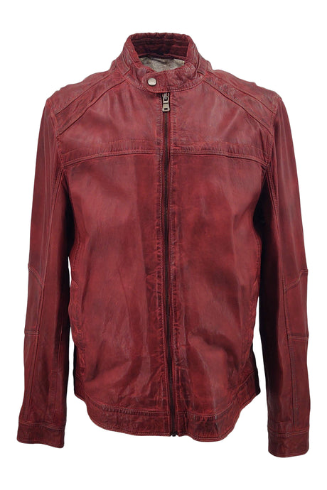 Ferome - Lamb Boss Leather - Man - Red / Læderjakke | STAMPE PELS