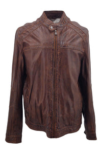 Ferome - Lamb Phelps Leather - Man - Cognac / Læderjakke | STAMPE PELS