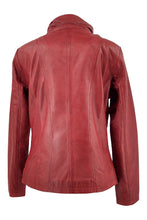 Load image into Gallery viewer, Teija - Lamb Malli Leather - Women - Red / Læder Skinds Jakke - Levinsky - Kvinde | STAMPE PELS