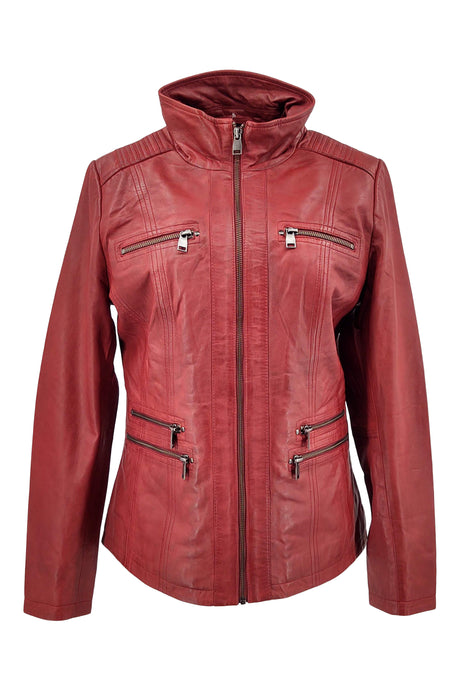 Teija - Lamb Malli Leather - Women - Red | STAMPE PELS