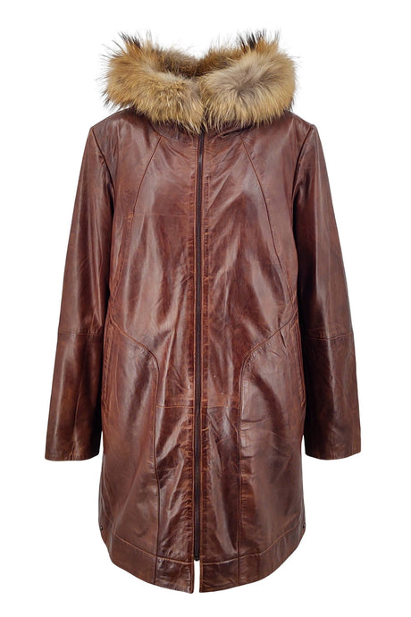 New Sophia - Lamb Glove Leather - Women - Parker Cognac | STAMPE PELS
