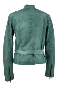 Tracy - Lamb Glove Leather - Women - Mineral Green | STAMPE PELS
