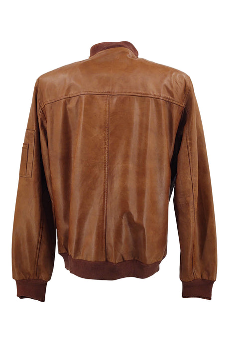 Mens Piave - Lamb Rover Leather - Man - Dark Cognac | STAMPE PELS