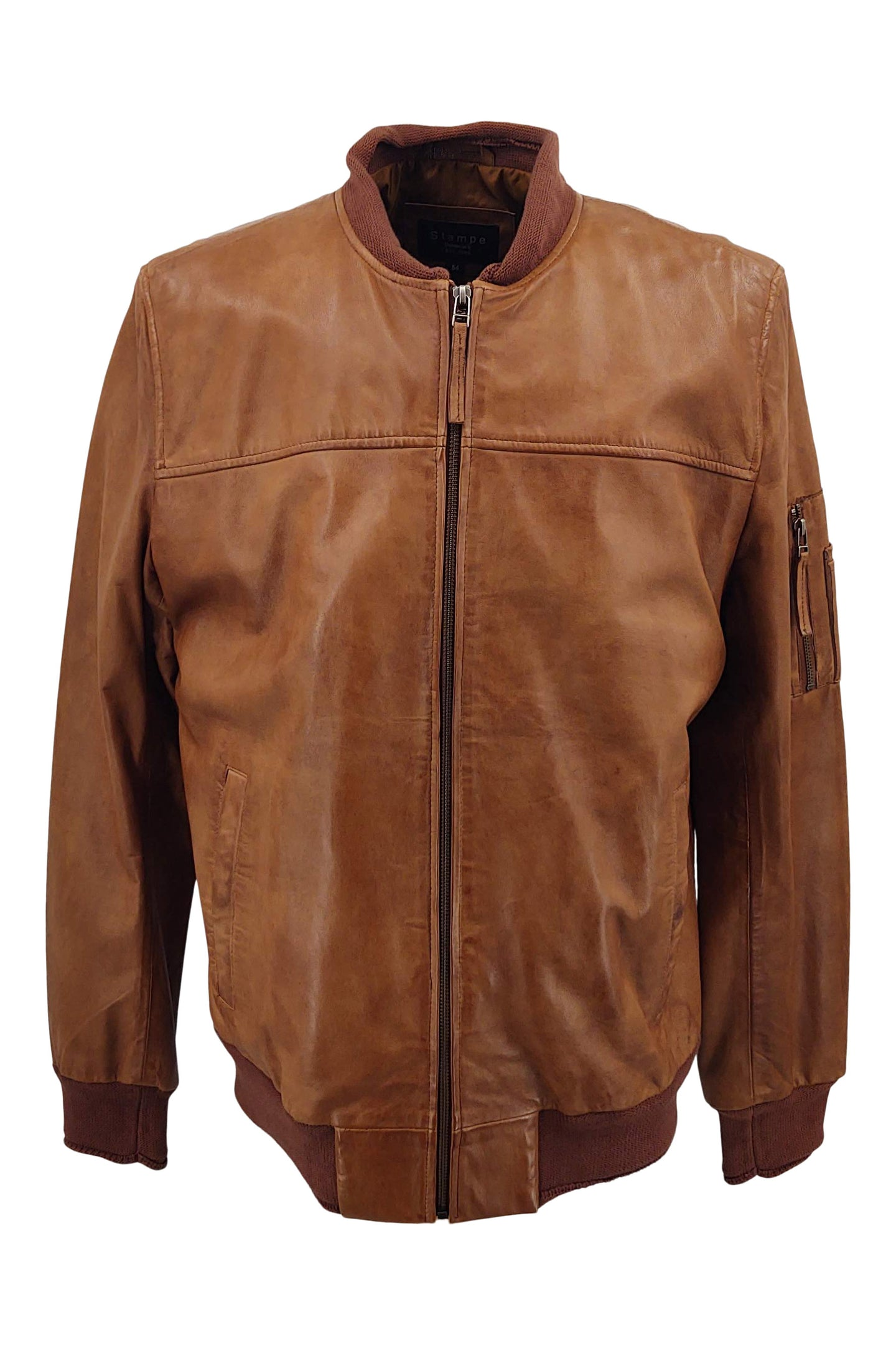 Mens Piave - Lamb Rover Leather - Man - Dark Cognac / Læderjakke | STAMPE PELS
