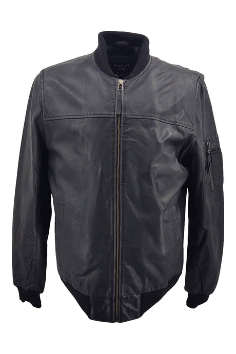 Mens Piave - Lamb Rover Leather - Man - Black / Læderjakke | STAMPE PELS